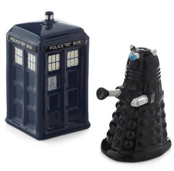 Doctor Who Salt & Pepper Shaker Set