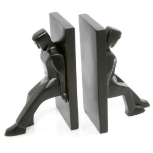 Kikkerland Leaning Men Bookends