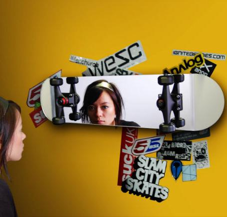 Skateboard Mirror