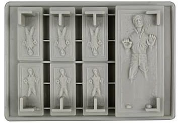 Carbonite Han Solo Ice Cube Tray
