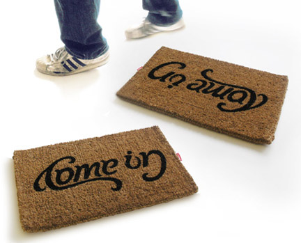 Come In / Go Away Doormat