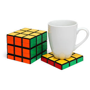 Rubik's Cube Coasters