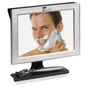 Fogless Shower Mirror with Squeegee