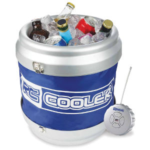 Remote Controlled Rolling Beverage Cooler