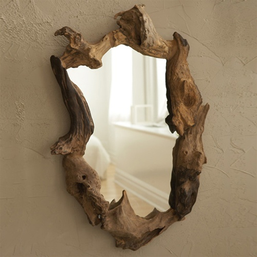 Wooden Root Mirror