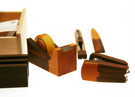 Wooden Stationery Desk Set