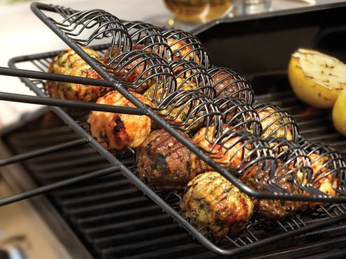 nonstick bbq meatball basket for men gifts. Black Bedroom Furniture Sets. Home Design Ideas