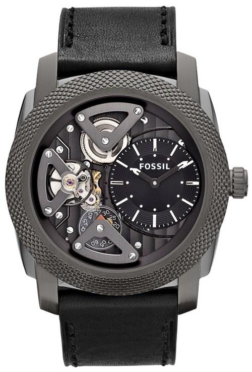 Machine Twist Leather Watch