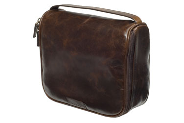 TClassic Leather Dopp Kit