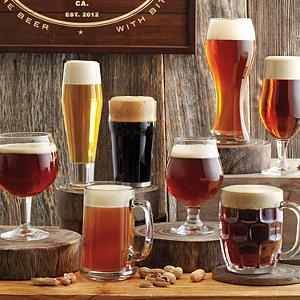 8 Piece Beer Tasting Glass Set