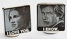 Stars Wars Han Solo/Leia I Love You Cufflinks